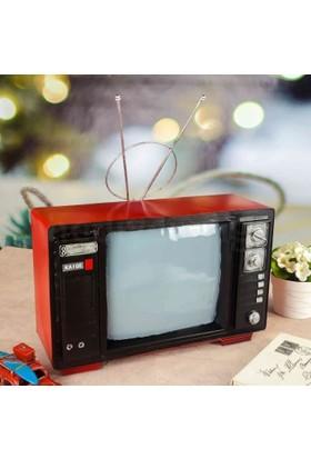 Tkn Nostaljik Dekoratif Metal Televizyon