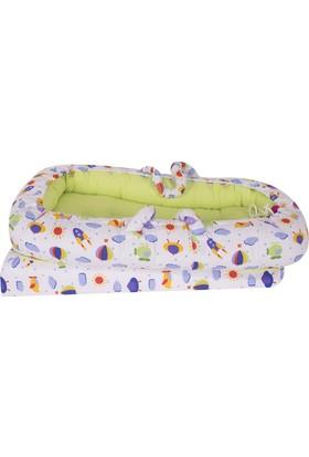 Sevi Bebe Anne & Baba Yanı Reflü Yatağı Yeşil