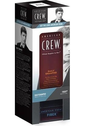 American Crew 2Li Set Daily Günlük Sampuan 250 ml+Fiber Wax 85 ml