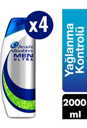 Head & Shoulders Men Ultra Erkeklere Özel Şampuan Maksimum Yağlanma Kontrolü 4 x 500 ml