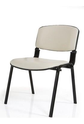Cb/21 Krem-Deri Form Sandalye