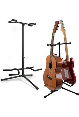 Chroma Gitar Standı İkili Chroma Saz Bağlama Gitar Ud Sehpası