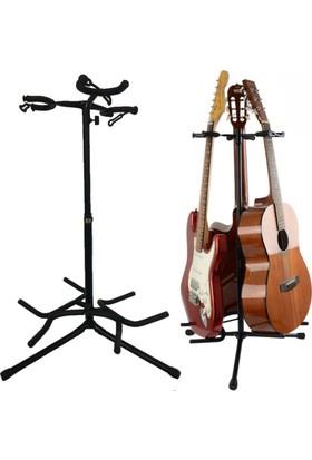 Chroma Gitar Standı Üçlü Chroma Saz Bağlama Gitar Sehpası