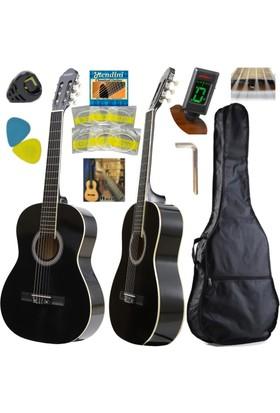 Hidalgo Klasik Gitar Mh860 Bk Sap Ayarlı 4/4 Tam Boy Full Set