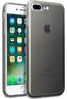 Case 4U Apple iPhone 7 Plus-8 Plus Kılıf Ultra İnce Silikon Füme