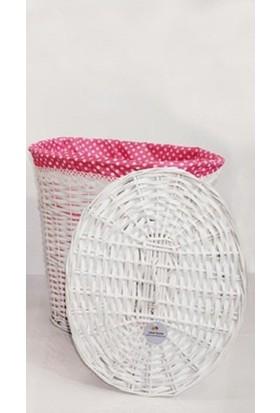 Evistro Hasır Çamaşır Sepeti Oval Büyük Boy 50cm x 50cm