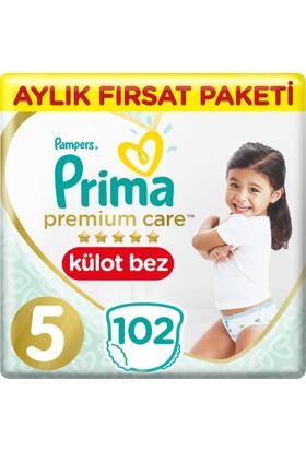 Prima Premium Care Külot Bebek Bezi 5 Beden Aylık Fırsat Paketi 102 Adet