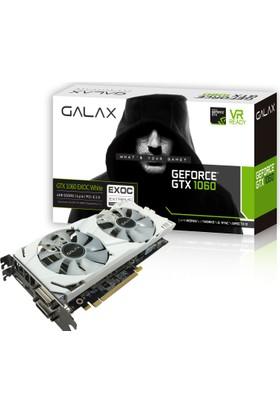 Galax Nvidia GeForce GTX1060 6GB EX OC White 192Bit (DX12) GDDR5 PCI-E 3.0 Ekran Kartı (60NRH7DVM3WE)