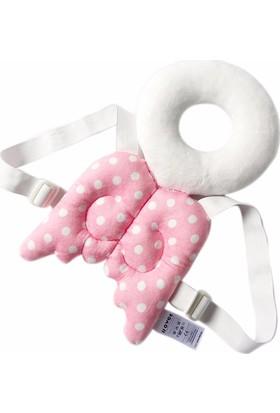 Baby&Me Bebek Kafa Koruma Yastığı Sevimli Kanatlar Pembe