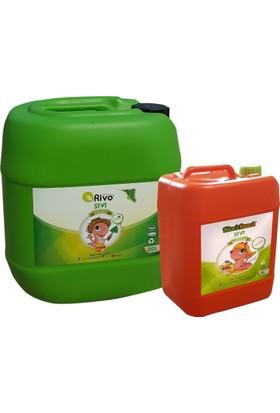Rivo %100 Organik Sıvı Solucan Gübresi 20 L Alana ( 5 Litre Organomineral (10-10-10 + Zn) Gübre Ücretsiz ) Rivasol ®