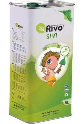 Rivo %100 Organik Sıvı Solucan Gübresi 5 L Rivasol ®