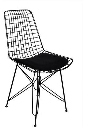 Arsayt Özel Tasarım 4'Lü Siyah Tel Sandalye