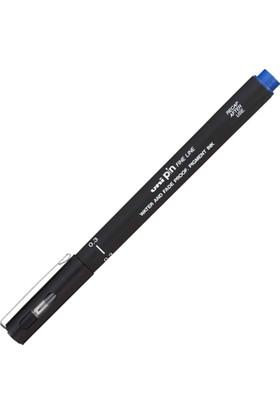 Uni Pin Fine Akrilik Uçlu Kalem 0,3 Mavi