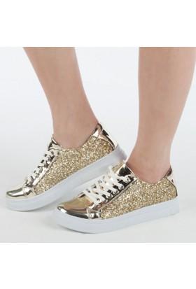 Mehmet Kömüş Ayakkabı Kadın Bağcıklı Sneakers