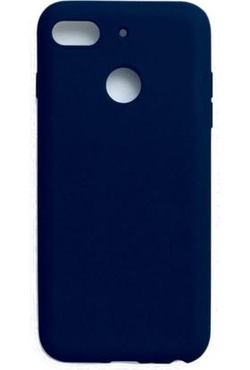 Teleplus General Mobile GM 8 Go Lüks Korumalı Silikon Kılıf Lacivert + Nano Ekran Koruyucu