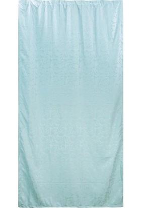 Jakist Dekoratif Jakarlı Şönil Tek Kanat Fon Perde (Su Yeşili) - 145x260 cm