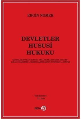 Devletler Hususi Hukuku - Ergin Nomer