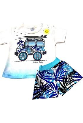 Million Erkek Bebek Jeep Baskılı Şortlu Alt Üst Takım