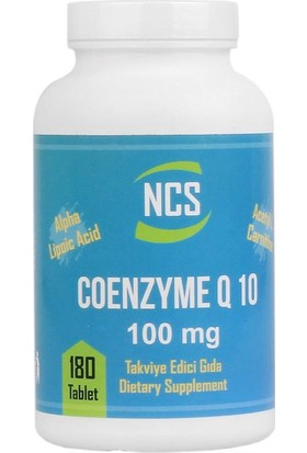 NCS Coenzyme Q10 Alpha Lipoic Acid Lcarnitine 180 Tablet