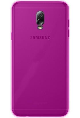 Gpack Samsung Galaxy C8 Kılıf 0.2 mm Silikon Nano Glass Pembe