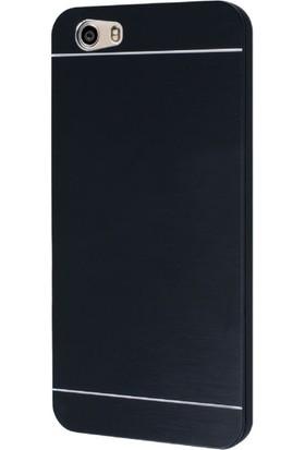 Gpack Vestel Venüs V3 5570 Kılıf Metal Motomo Nano Glass Siyah