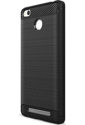 Gpack Xiaomi RedMi 3 Pro Kılıf Room Silikon Kılıf Nano Glass Siyah