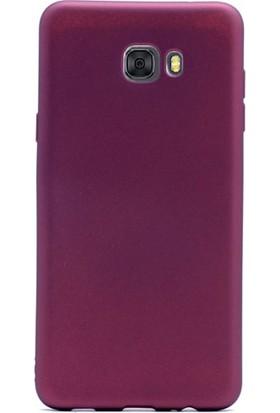 Gpack Samsung Galaxy C9 Pro Kılıf Premier Silikon Nano Mürdüm