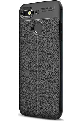 Gpack General Mobile GM8 Go Kılıf Niss Silikon Deri Görünümlü Siyah