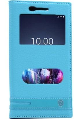 Gpack Vestel Venüs Z10 Kılıf Elite Gizli Mıknatıslı Nano Glass Turkuaz