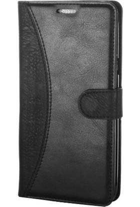 Gpack HTC Desire 620 Kılıf Mmc Cüzdan Kartvizitli Standlı Cüzdan Siyah