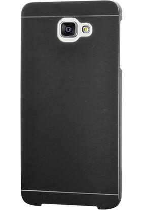 Gpack Samsung Galaxy A7 2017 Kılıf Metal Motomo Nano Glass Siyah