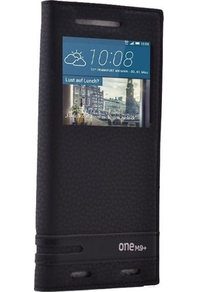 Gpack HTC One M9 Plus Kılıf Elite Gizli Mıknatıslı Kapaklı Nano Kalem Siyah