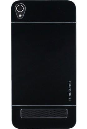 Gpack Vestel Venüs V3 50.20 Kılıf Metal Motomo Arka Kapak Nano Glass Siyah