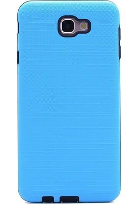 Gpack Samsung Galaxy J7 Prime Kılıf New Youyou Silikon Nano Glass Mavi