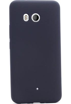 Gpack HTC U11 Premier Silikon Kılıf Mat Kılıf Nano Glass Ekran Koruyucu Siyah