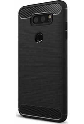 Gpack LG V30 Kılıf Room Silikon Kılıf Nano Glass Siyah