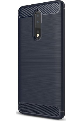 Gpack Nokia 8 Kılıf Room Silikon Kılıf Nano Glass Lacivert