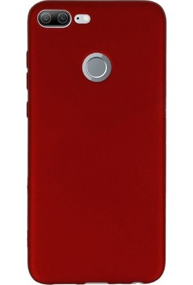 Gpack Huawei Honor 9 Lite Kılıf Premier Silikon Arka Kapak Nano Glass Kalem Kırmızı