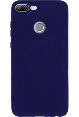 Gpack Huawei Honor 9 Lite Kılıf Premier Silikon Arka Kapak Nano Glass Kalem Lacivert