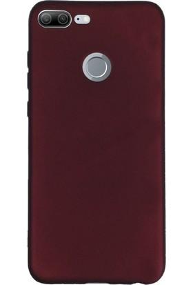 Gpack Huawei Honor 9 Lite Kılıf Premier Silikon Arka Kapak Nano Glass Kalem Mürdüm
