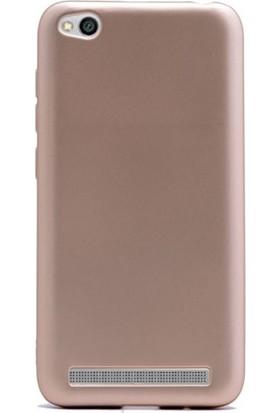 Gpack Xiaomi Redmi 5A Premier Silikon Kılıf Nano Glass Koruyucu Gold