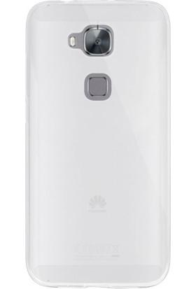 Gpack Huawei G8 Kılıf 0.2 mm Silikon Kılıf Nano Glass Koruma Şeffaf