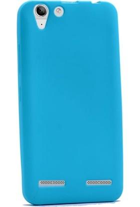 Gpack Lenovo K5 Premier Silikon Kılıf Esnek Kılıf Nano Glass Ekran Koruyucu Mavi