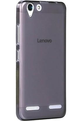 Gpack Lenovo K5 Kılıf 0.2 mm Silikon İnce Kılıf Nano Glass Antrasit