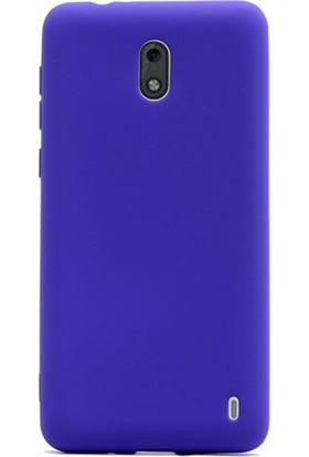 Gpack Nokia 2 Premier Silikon Kılıf Nano Glass Koruyucu Lacivert