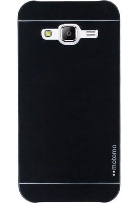 Gpack Samsung Galaxy A5 2015 Kılıf Metal Motomo Nano Glass Siyah