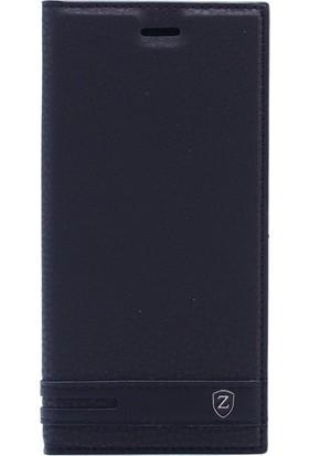 Gpack Sony Xperia XZ2 Kılıf Elite Mıknatıslı Kapaklı Koruma Nano Glass Siyah
