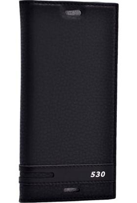 Gpack HTC Desire 530 Kılıf Elite Gizli Mıknatıslı Kapaklı Siyah