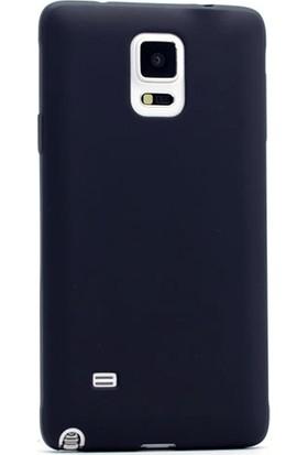 Gpack Samsung Galaxy Note 4 Premier Silikon Kılıf Nano Glass Koruyucu Siyah