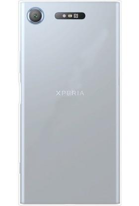 Gpack Sony Xperia XZ1 Kılıf 0.2 mm Silikon Nano Glass Şeffaf